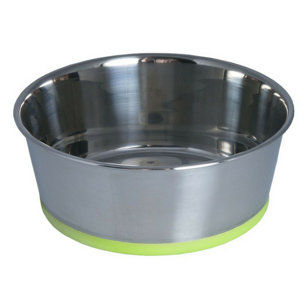 Rogz Stainless Steel Slurp Bowl | Lime | Peticular