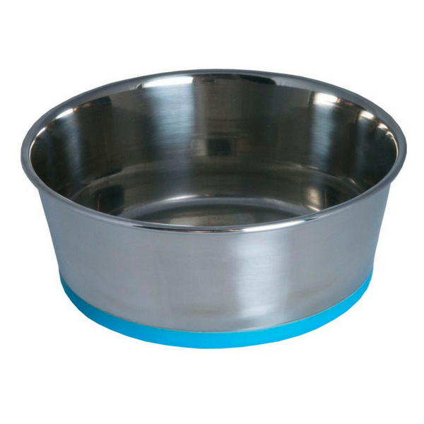 Rogz Stainless Steel Slurp Bowl | Blue | Peticular