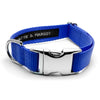 MATTIE + MARGOT Royal Blue Stripped Dog Collar | Peticular