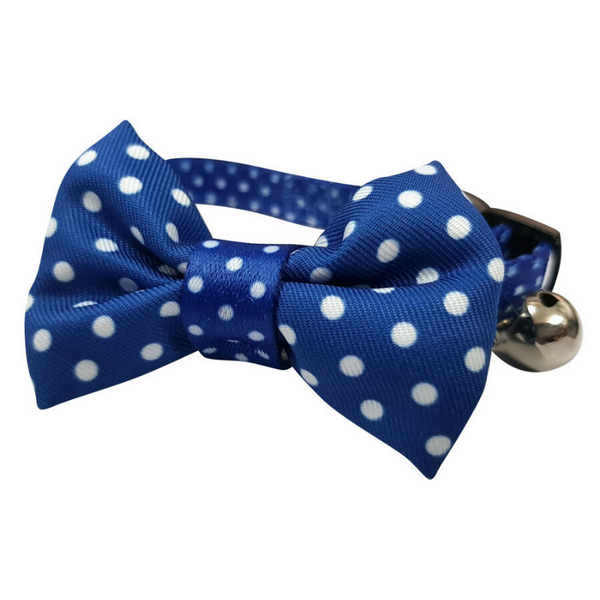Polka Dots Cat Collar | Blue