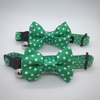 Polka Dots Cat Collar | Emerald Green