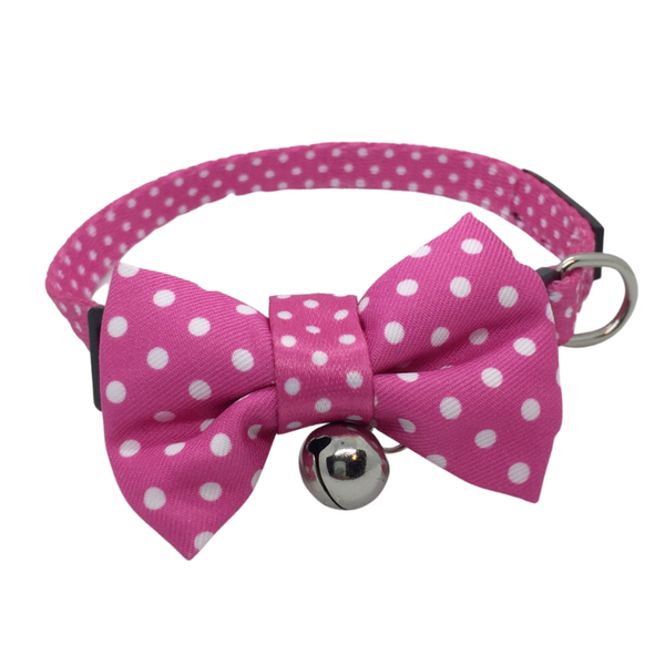 Polka Dots Cat Collar | Hot Pink