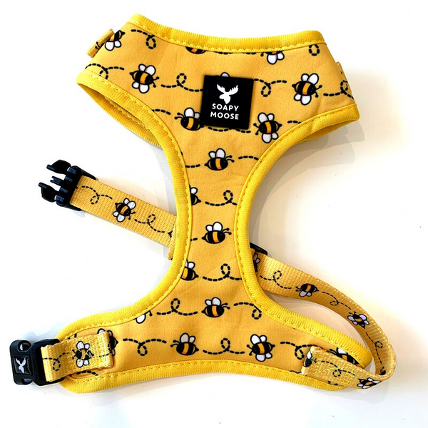 Soapy Moose Dog Harness | Busy Bee | Peticular