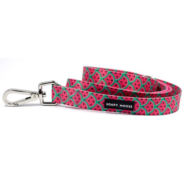 Soapy Moose Hot Pink Watermelon Double Sided Dog Lead | Peticular