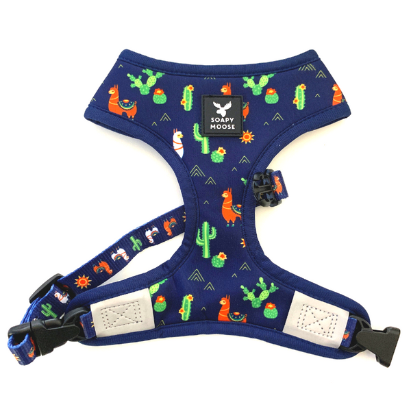 Soapy Moose Reversible Dog Harness | Desert Llamas | Peticular