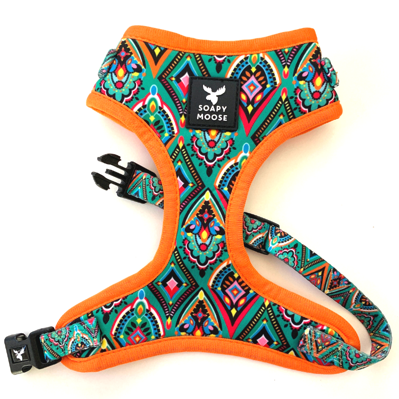 Soapy Moose Dog Harness | Moroccan Sunrise | Peticular