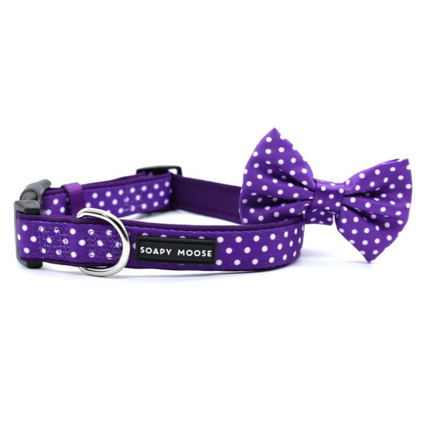Soapy Moose Purple & White Polka Dots Collar | Peticular