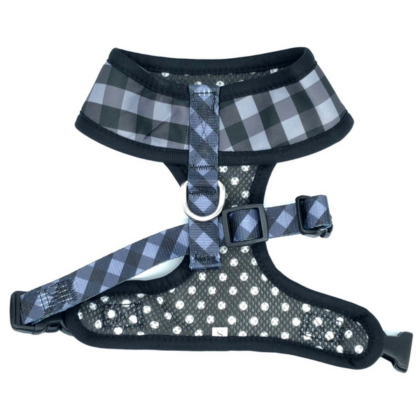 Soapy Moose Reversible Dog Harness | The Manhattan | Peticular