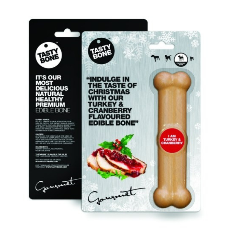 Tasty Bone Christmas Bone | Turkey & Cranberry | Peticular