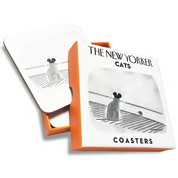 Bobangles The New Yorker Drink Coasters | Cats | Peticular