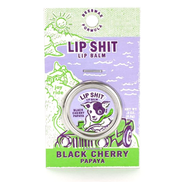 Blue Q Lip Shit Lip Balm | Black Cherry Papaya | Peticular