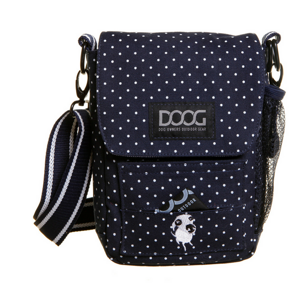 DOOG Walkie Bag | Polka Dot Blue & White | Peticular