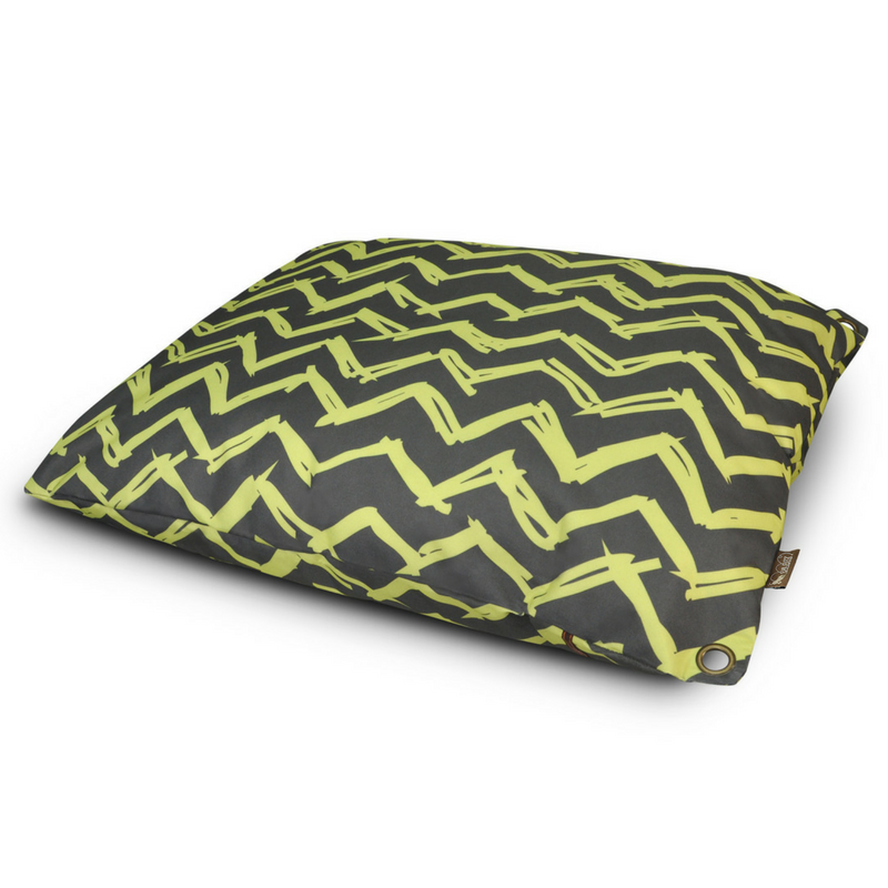 P.L.A.Y Outdoor Pet Bed | Yellow Chevron | Peticular