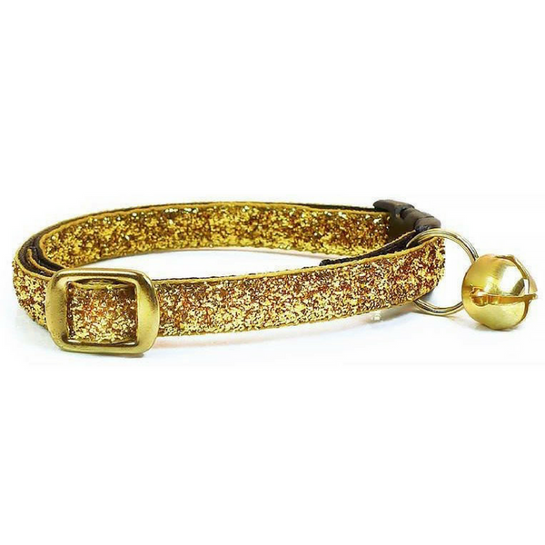 Made by Cleo Heart of Gold Sparkle Cat Collar | Peticular