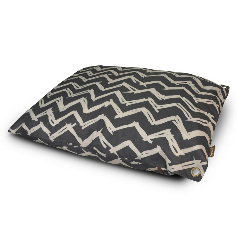 P.L.A.Y Outdoor Pet Bed | Black Chevron | Peticular