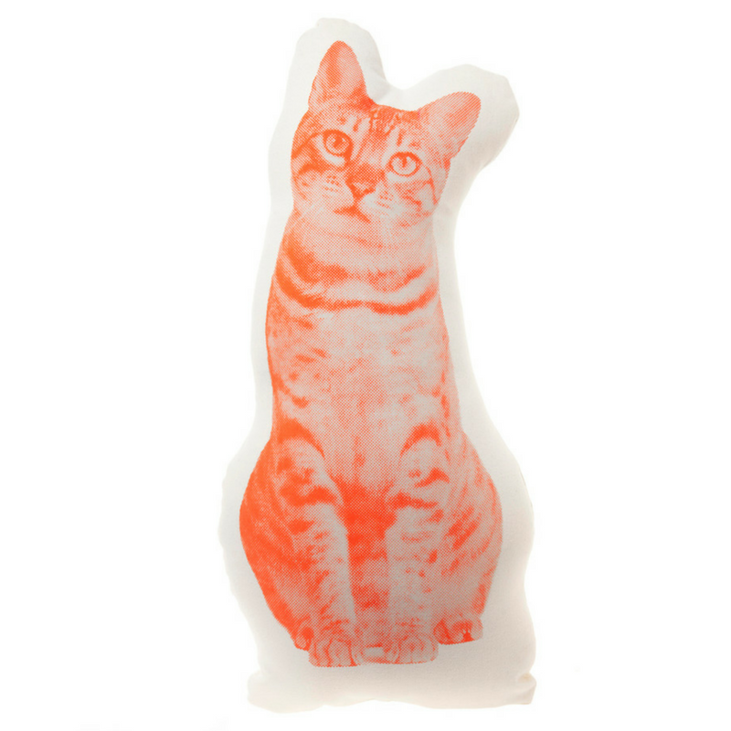 Areaware Fauna Cushion | Tabby Cat | Peticular