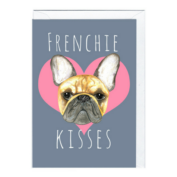 Blank Card | Frenchie Kisses
