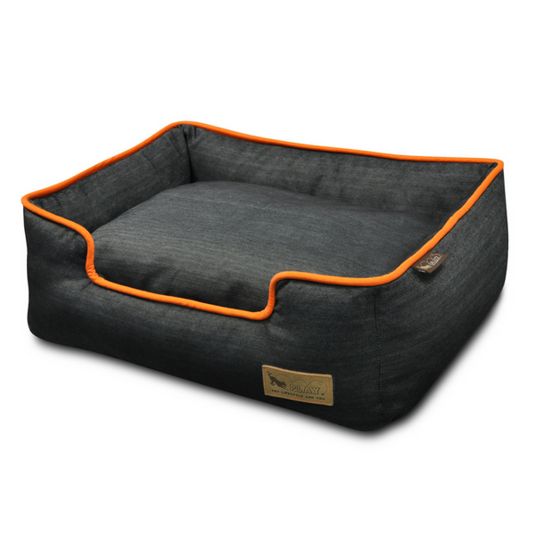 Urban Denim Lounge Pet Bed | Mandarin