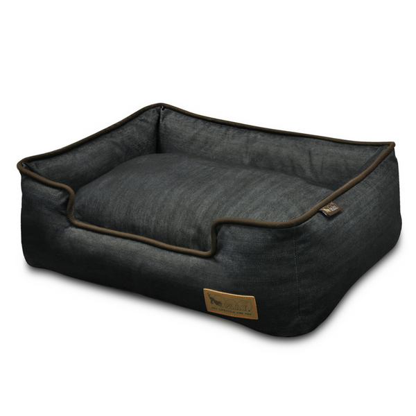 P.L.A.Y Urban Denim Lounge Pet Bed | Chocolate | Peticular
