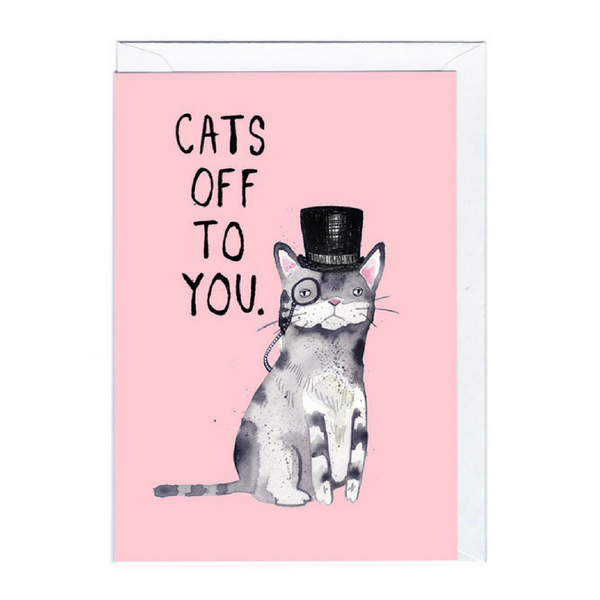Blank Card | Cats Off To You