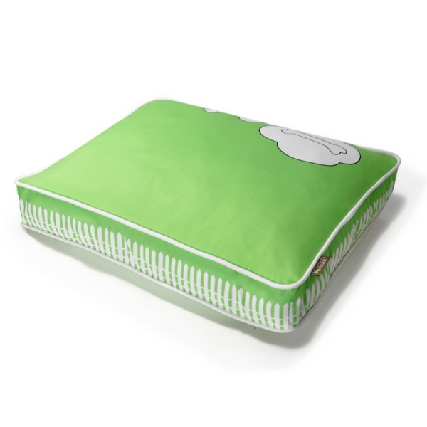 P.L.A.Y What Dogs Dream Pet Bed | Green | Peticular