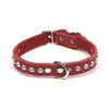 Dogue Glamour Leather Dog Collar | Red | Peticular
