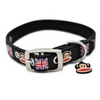 Paul Frank Union Jack Rubberised Pet Collar | Peticular
