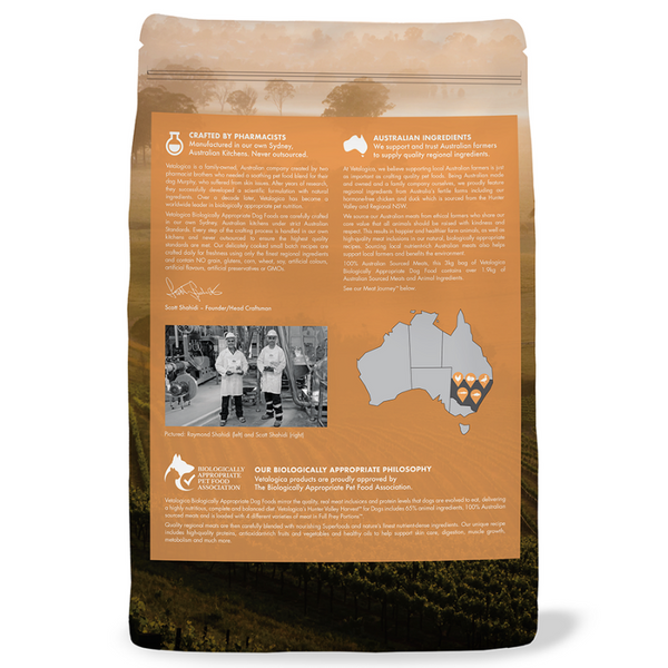 Vetalogica Biologically Appropriate | Hunter Valley Harvest Adult Dog Food | Peticular