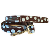 Polka Dot Lead | Blue on Brown
