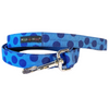 Polka Dot Collar | Navy on Blue