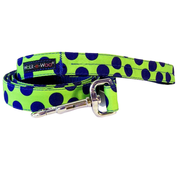 Polka Dot Lead | Neon Blue on Green - Peticular