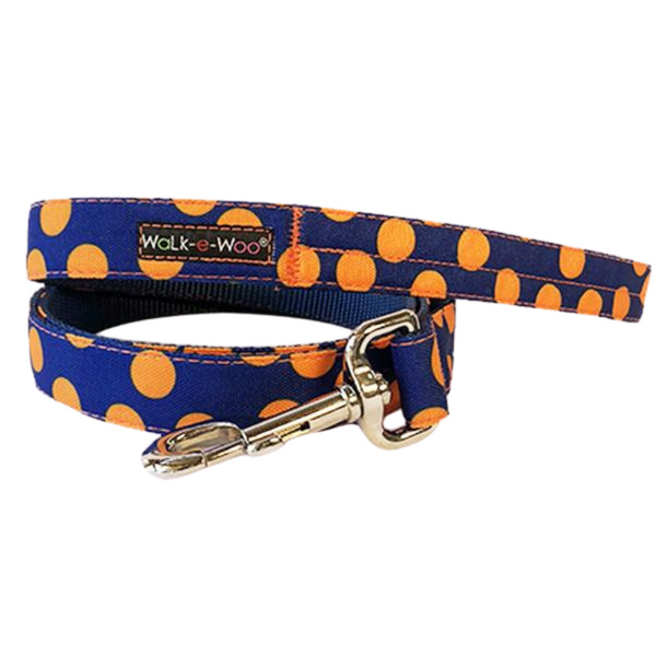 Polka Dot Lead | Orange on Blue
