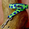 Polka Dot Lead | Neon Blue on Green