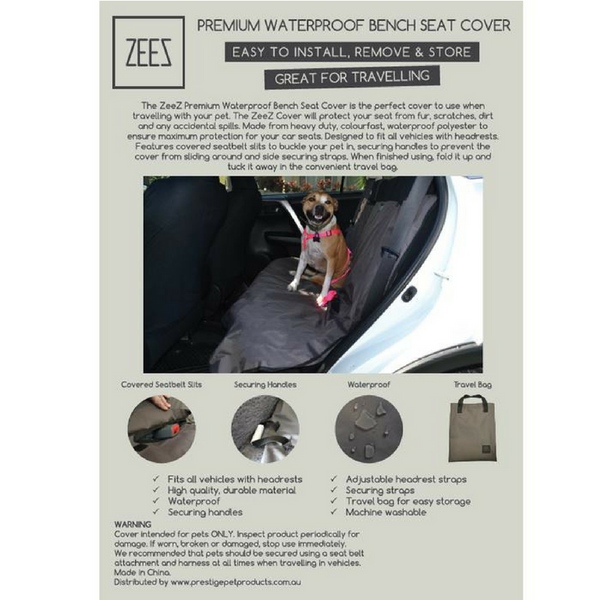 Prestige Pet Products Waterproof Bench Seat Cover | Peticular