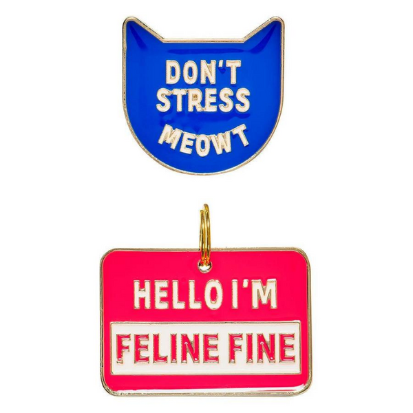 Cat Crazy Pin & Tag Set | Feline Fine