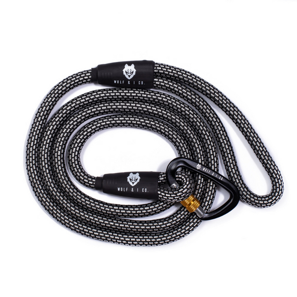 Wolf & I Co. White Lines Climbing Rope Dog Leash | Peticular