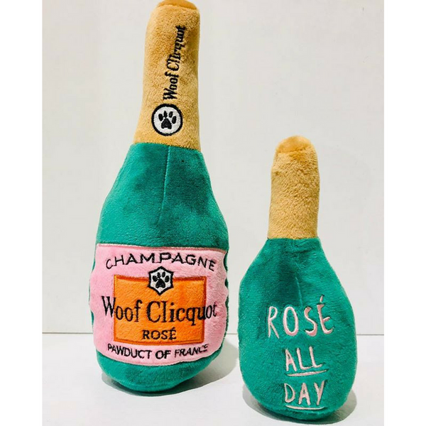 Haute Diggity Dog Plush Dog Toy | Woof Clicquot Rosé | Peticular