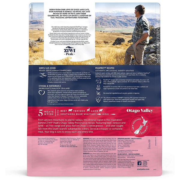 Ziwi Peak Air-Dried Dog Food & Topper | Otago Valley Recipe | Peticular