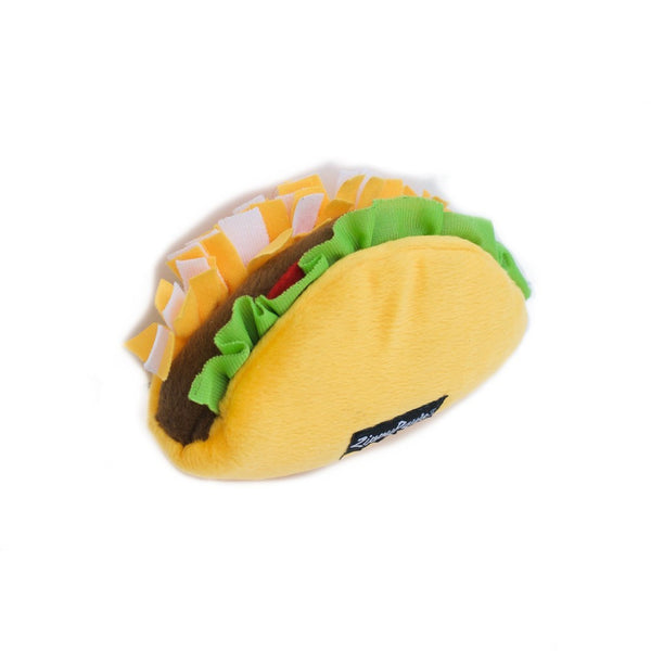 Zippy Paws NomNomz Plush Dog Toy | Taco | Peticular