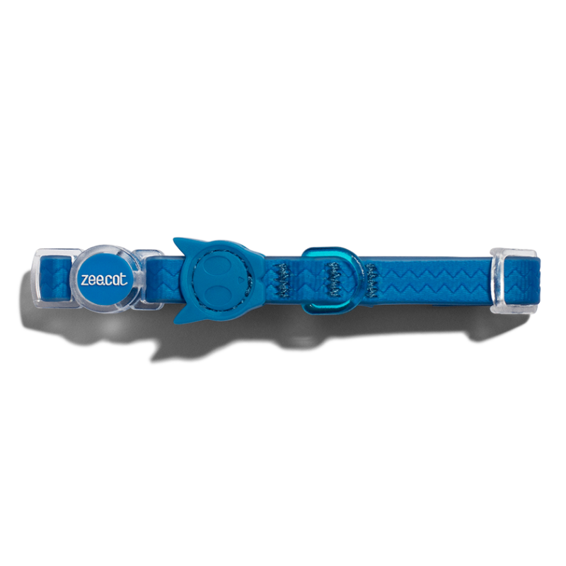 Zee.Dog Zee.Cat Weatherproof Cat Collar | Blue | Peticular