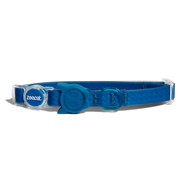 Zee.Cat Weatherproof Cat Collar | Blue
