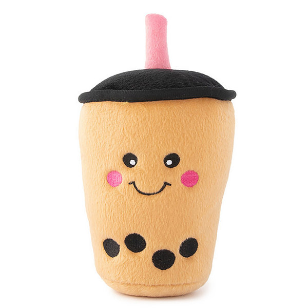Zippy Paws NomNomz Plush Dog Toy | Boba Milk Tea | Peticular