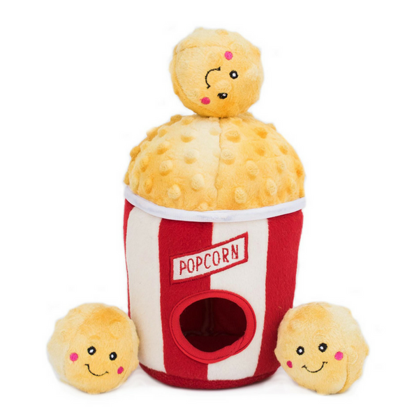 Zippy Paws Interactive Dog Toy | Popcorn Bucket | Peticular