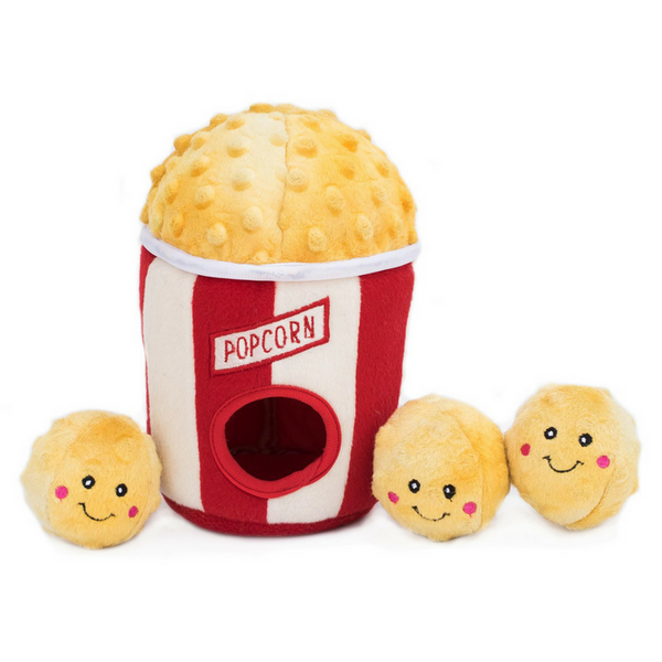 Zippy Burrow Interactive Dog Toy | Popcorn Bucket