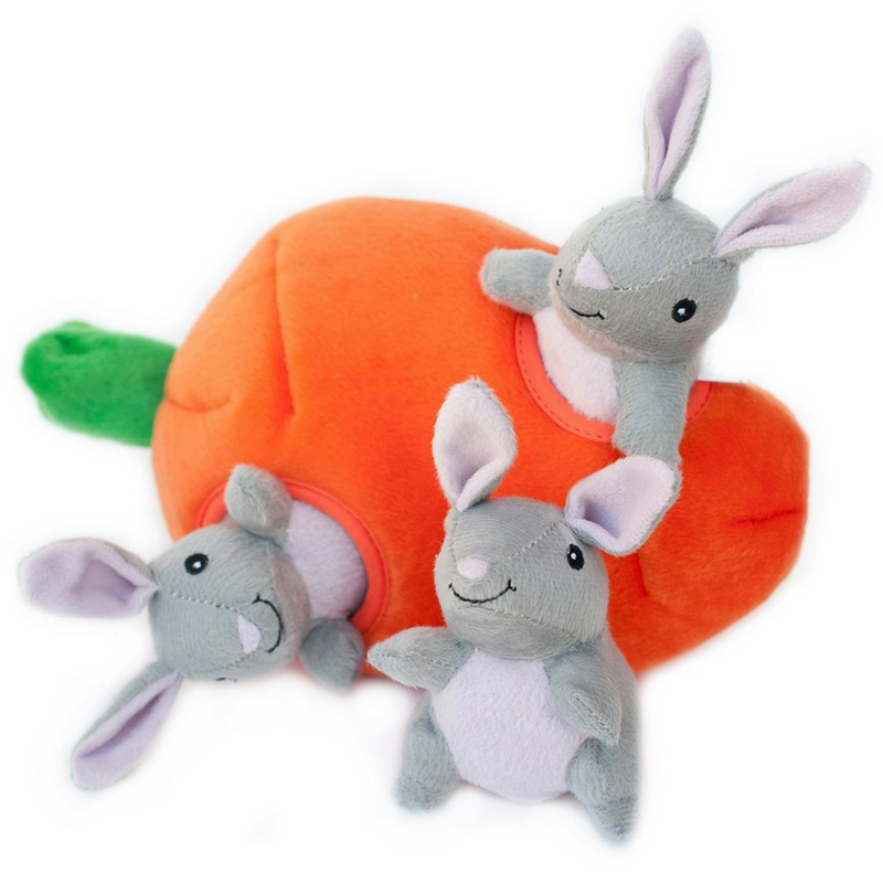 Zippy Burrow Interactive Dog Toy | Bunny 'n Carrot