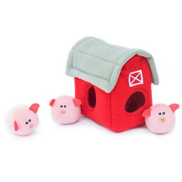 Interactive Dog Toy | Pig Barn