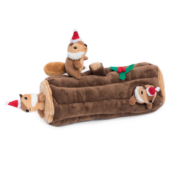Zippy Paws Interactive Dog Toy | Yule Log | Peticular