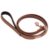 Zippy Paws Leather & Rose Gold Dog Lead | Brown | Peticular