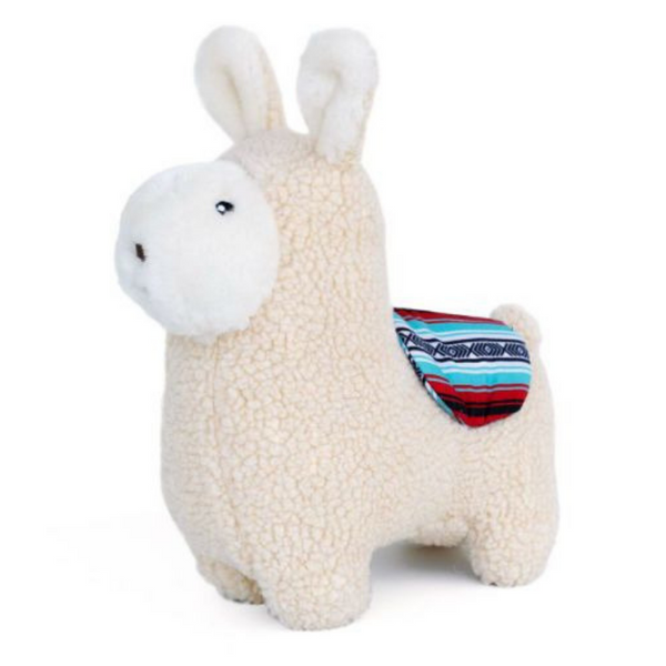Zippy Paws Snugglerz Dog Toy | Liam The Llama | Peticular