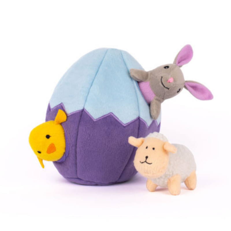 Zippy Paws Interactive Dog Toy | Egg And Friends | Peticular